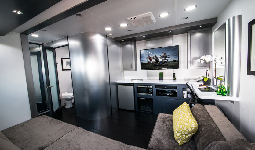 Mobile Studio Trailer Living Space