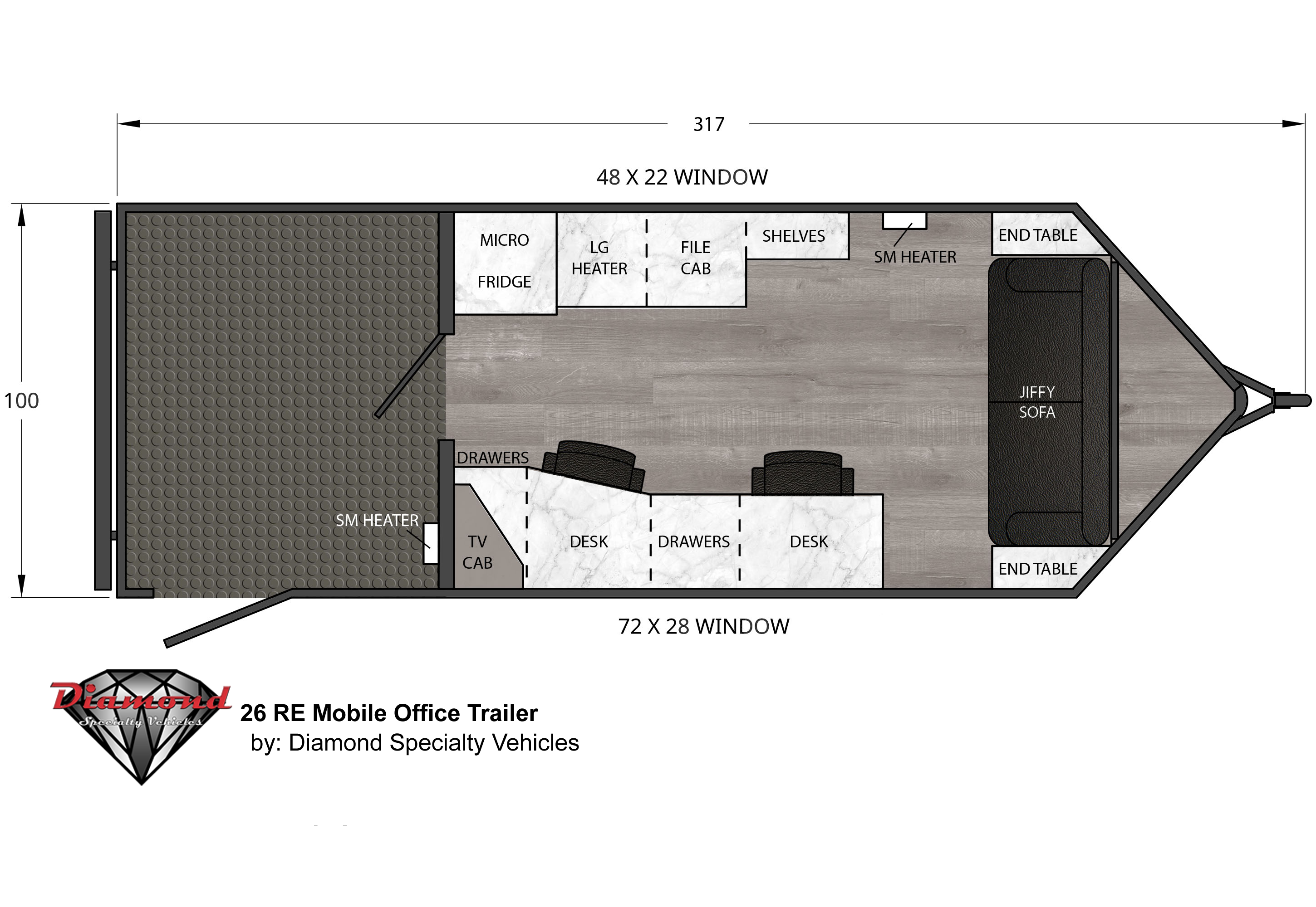 Mobile Office Trailer 26 RE