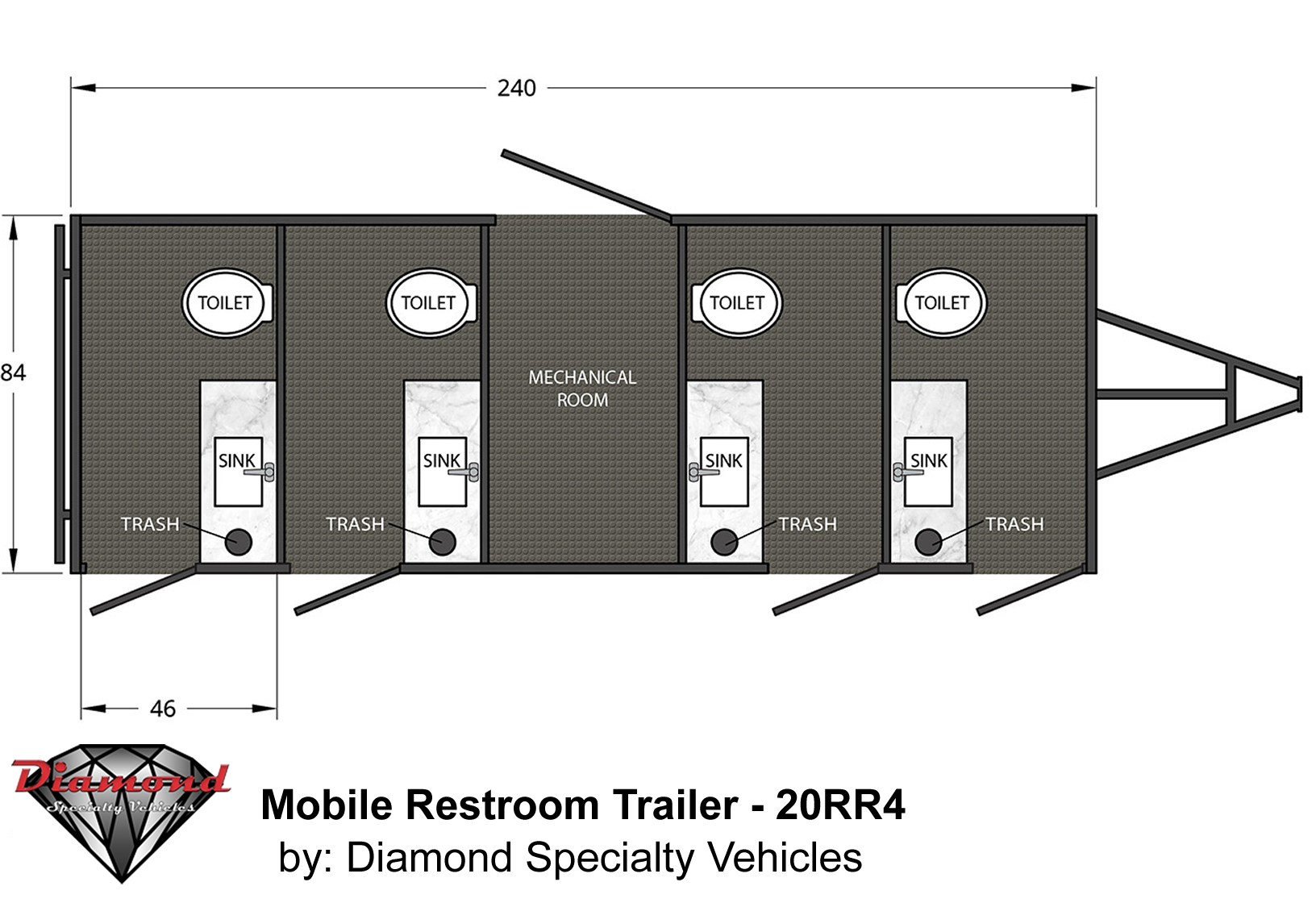 Mobile Restroom Trailer 20RR4