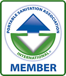 We are a Proud Member of the Portable Sanitation Association International